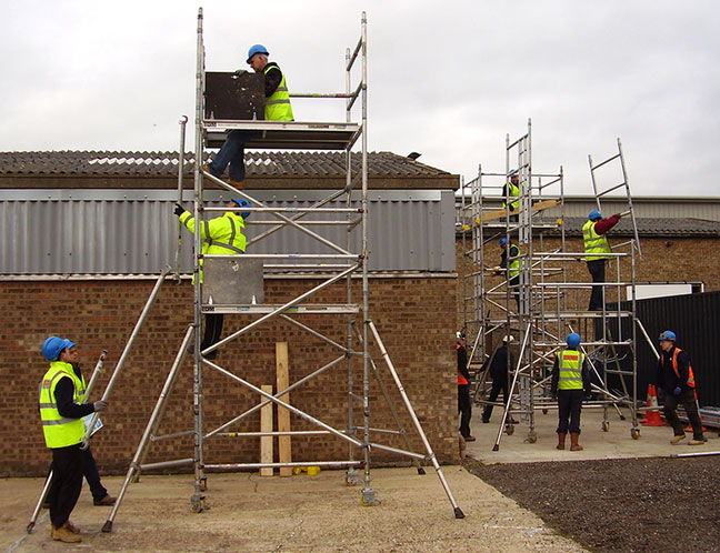 Pasma Scaffold Tower Training Safety Courses Working