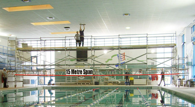 Swimming Pool Tower Scaffold Access Bridging For Maintenance